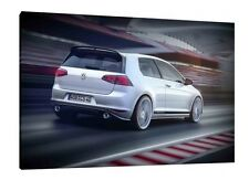 VOLKSWAGEN Golf Gti - 30x20 pulgadas impresión enmarcado cuadro lienzo-VW MK7