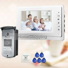 "DIY 7"" LCD Color Video Intercom Door Phone System RFID Doorbell Outdoor Camera"