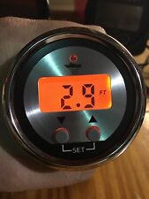 OEM Amber Backlight LED Depth Finder/Sounder W/Temp- Transom Mount Transducer