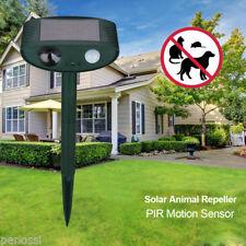 PIR Ultraschall Solar Tiervertreiber Katzenschreck Katzenabwehr Katzenvertreiber