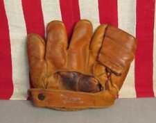 Vintage 1940s MacGregor Goldsmith Leather Baseball Glove Mitt Eddie Miller Nice!