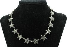 A Fabulous Georgian Cut Steel Star Necklace Circa 1770's