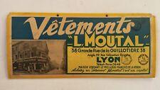 Ancien carton publicitaire magasin Vêtements MOUTAL à LYON - 69 - prêt-à-porter