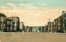 Canada, N.B. , St John, East End King ST Early Postcard