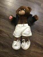 "Build A Bear National Teddy Bear Day 2018 Brown 15"" Fully dressed with sketchers"