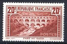"FRANCE STAMP TIMBRE 262Aa "" PONT GARD 20F CHAUDRON CLAIR TYPE I""NEUF xx TTB P491"