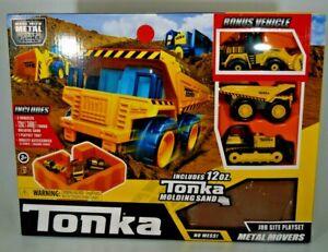 TONKA - METAL MOVERS PACK - MIGHTY DUMP TRUCK FRONT LOADER BULLDOZER JOBSITE