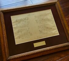 """Samuel Francis Smith """"America"""" / My Country 'Tis of Thee Autograph Lyrics Signed"""