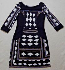 DIANE von FURSTENBERG 3/4 Sleeved ''Dakota'' Silk Stretch Dress - UK 6/8