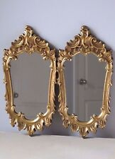 Pair of Vintage Giltwood Gold Frame Mirrors Wall Decor