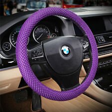 "38cm 15"" M sz No smell Eco friendly car steering wheel cover case holder purple"