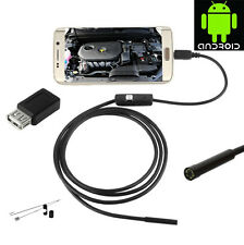 ENDOSCOPICA TELECAMERA ISPEZIONE MICRO E USB PER ANDROID PC 5MT 6 LED OTG IP66