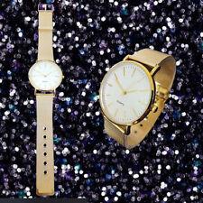 Orologio Donna Da Polso Analogico Quarzo Moderno Fashion Casual Colore Oro lac
