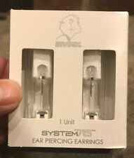 STUDEX SYSTEM 75 Earrings EAR PIERCING KIT April Birthstone Crystal Stainless