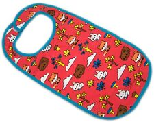 Adult bib Forest Animals, red color autistic