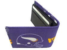 "Bi-Fold Men Wallet With NFL ""Minnesota  VIKINGS"" Pattern, Cotton , New, Rare"