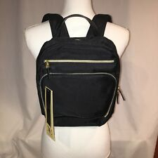 b3781be84e18 Naomi Campbell Black backpack Handbag New Nwt gold tone zippers 3 zippered  areas