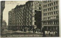 Postcard San Francisco CA Palace Hotel Frisco Fire Earthquake April 18 1906 B&W