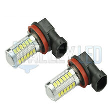 Honda Insight 09-on Bright LED Front Fog Light H11 31w 33 SMD lens White Bulbs