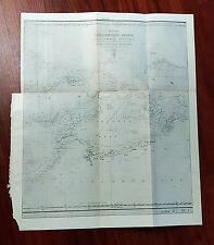 1844 Photo Litho Russian Map of Kapta, Oxotckoe Mope