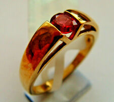 9ct Gold Ruby Ring Solitaire Channel Set Style BNIB With Authenticity Guarantee