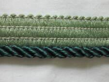 "5 YARDS 3/16"" HUNTER GREEN TWIST SHINY LIP CORD CORDING TRIM"