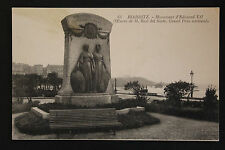 Carte postale ancienne CPA BIARRITZ - Monument Edouard VII
