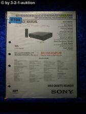 Sony Service Manual SLV SX25 SE10 SE20 SE25 SE30 SE40 SE45 SX10 SX40 (#6104)
