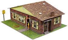 "Bk 4821 1:48 Scale ""Brick Rambler"" Photo Real Scale Building Kit"