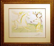 """Salvador Dali """"Le Cavalier Et Le Cerf"""" Hand Signed Intaglio Artwork, MAKE OFFER!"""
