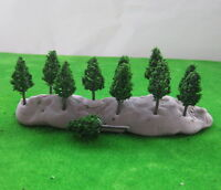 S3812 100pcs Model Pine Trees Deep Green For N Z Scale Layout 38mm New