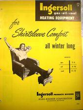 Ingersoll Products BORG-WARNER Corporation Heater Catalog ASBESTOS Gasket 1950's