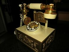 VINTAGE FRENCH VICTORIAN AMERICAN TELECOMMUNICATIONS  DECO-TEL ROTARY PHONE