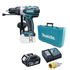 MAKITA 18V DHP458 COMBI DRILL, BL1840 BATTERY, DC18RC 110v CHARGER & CASE