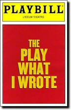 Playbill The Play What I Wrote  Sean Foley  Hamish McColl Toby Jones Jay Russell