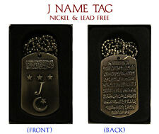 """""""J"""" INIZIALE COLLANA Tag-Nozze Compleanno ayatul kursi EID nome identità REGALO"""