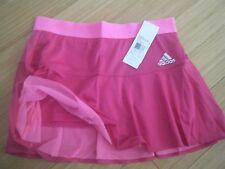 WOMENS ADIDAS ADIZERO ClimaCool TENNIS SKIRT SKORT W/SHORTS reg$50 pink