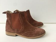 Womens Brown Suede Russell & Bromley ankle Boots Uk6 EU39