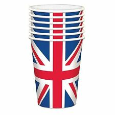 20 Union Jack Paper Cups British Street Party Royal Wedding Supplies Tableware