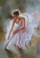 ZOPT167 sexy modern hand painted ballet girl art OIL PAINTING ON CANVAS