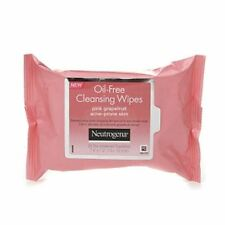Neutrogena Oil-Free Cleansing Wipes for Acne Prone Skin, Pink Grapefruit 25 ea