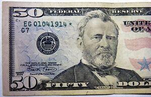 2004 $50 Star Note~ Birthday Bill ( JAN 4 ~ 1914)  S/N~ EG 01041914 * Circulated