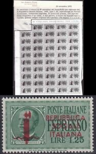 1944 R.S.I. ESPRESSO NR.21 TIRATURA FIRENZE NUOVO MNH** COPIA CERT. A.DIENA