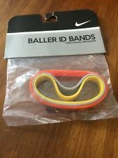 Nike Baller ID Bands Wristbands Bracelets New In Package Adult Gray Orange