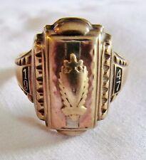 1947 Josten Solid 10K Yellow Gold High School Sz 10-1/2 Ring 6.9gr Scrap or Not
