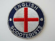 English Scooterist Scooter Biker Embroidered Patch Heavy Mods and Rockers
