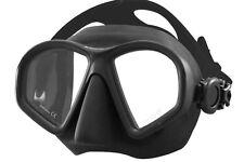 Tilos Spawn 2-Lens Scuba Diving Crystal Silicone Mask All Black