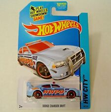 2014 Hot Wheels 48/250. BLUE Dodge Charger Drift Police Car. New in Package!