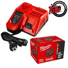 Genuine Milwaukee M12-18FC Rapid Fast Charger+(1) M18B6 6.0Ah Battery