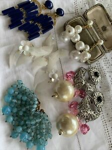 Lovely Collection Assorted Vintage 1950s/60s/70s Tassel Dangly CLIP ON EARRINGS
